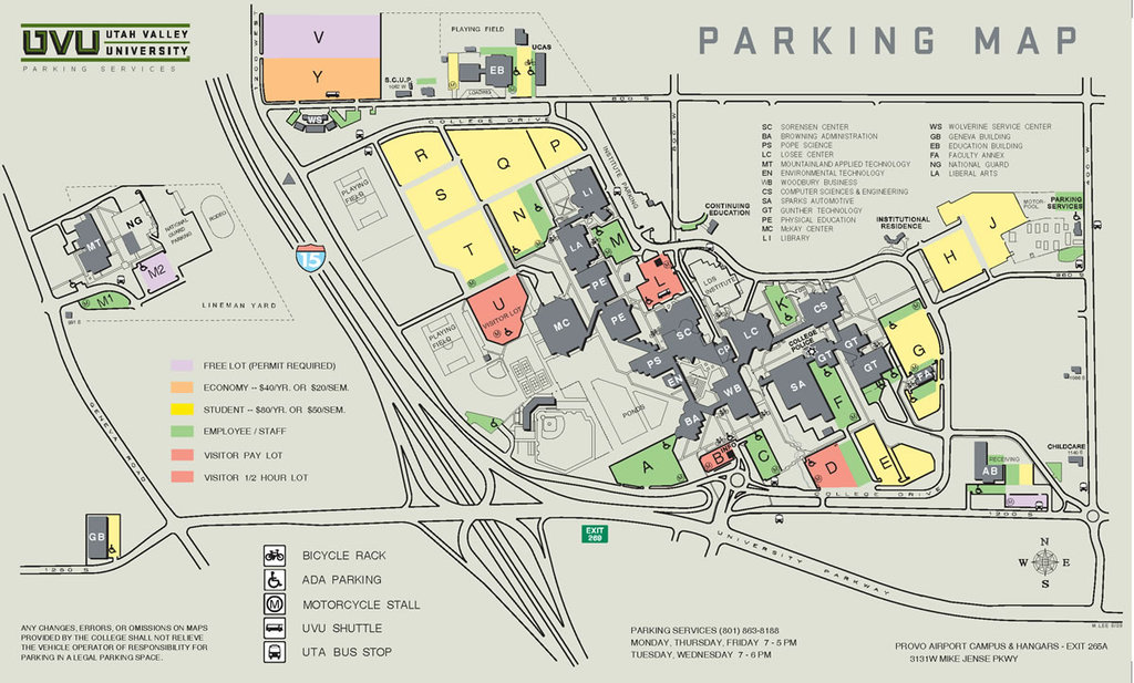 Uvu Parking Map Home